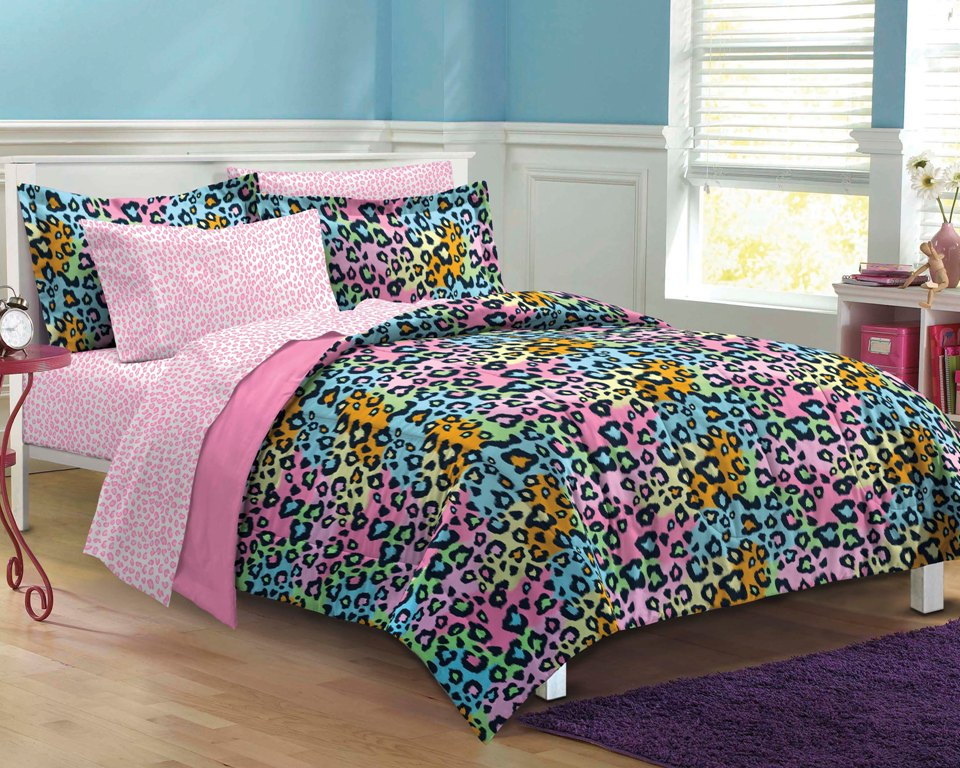 rainbow dorm bedding photo - 5
