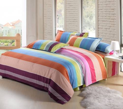 rainbow double bedding photo - 1
