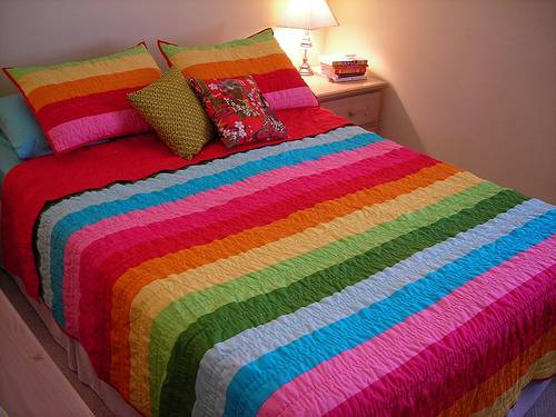 rainbow double bedding photo - 5