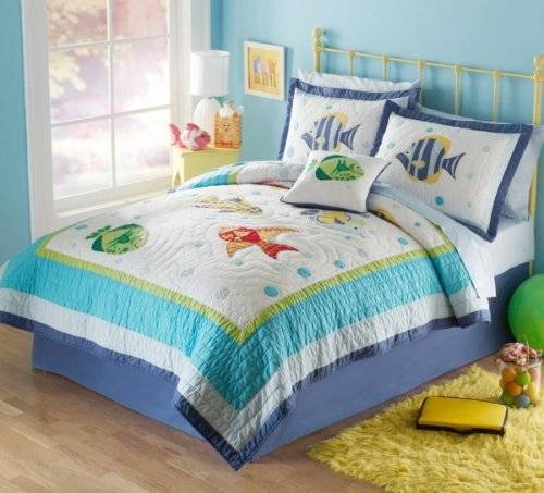 rainbow fish bedding set photo - 3