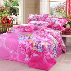 rainbow floral bedding photo - 1