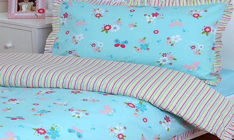 rainbow floral bedding photo - 4