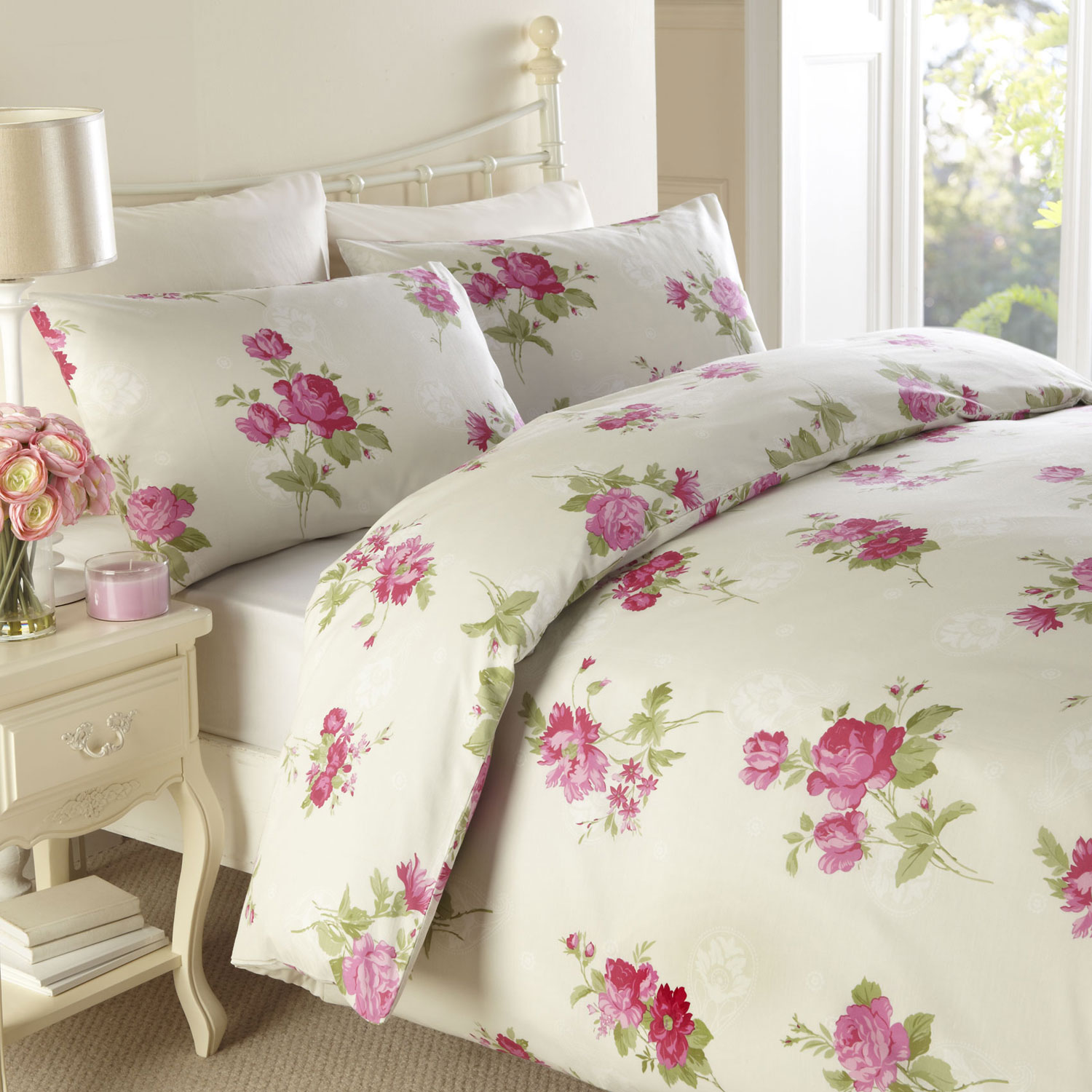 rainbow floral bedding photo - 5