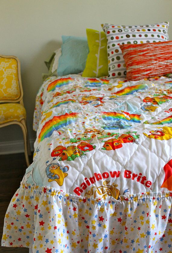 rainbow floral bedding photo - 6