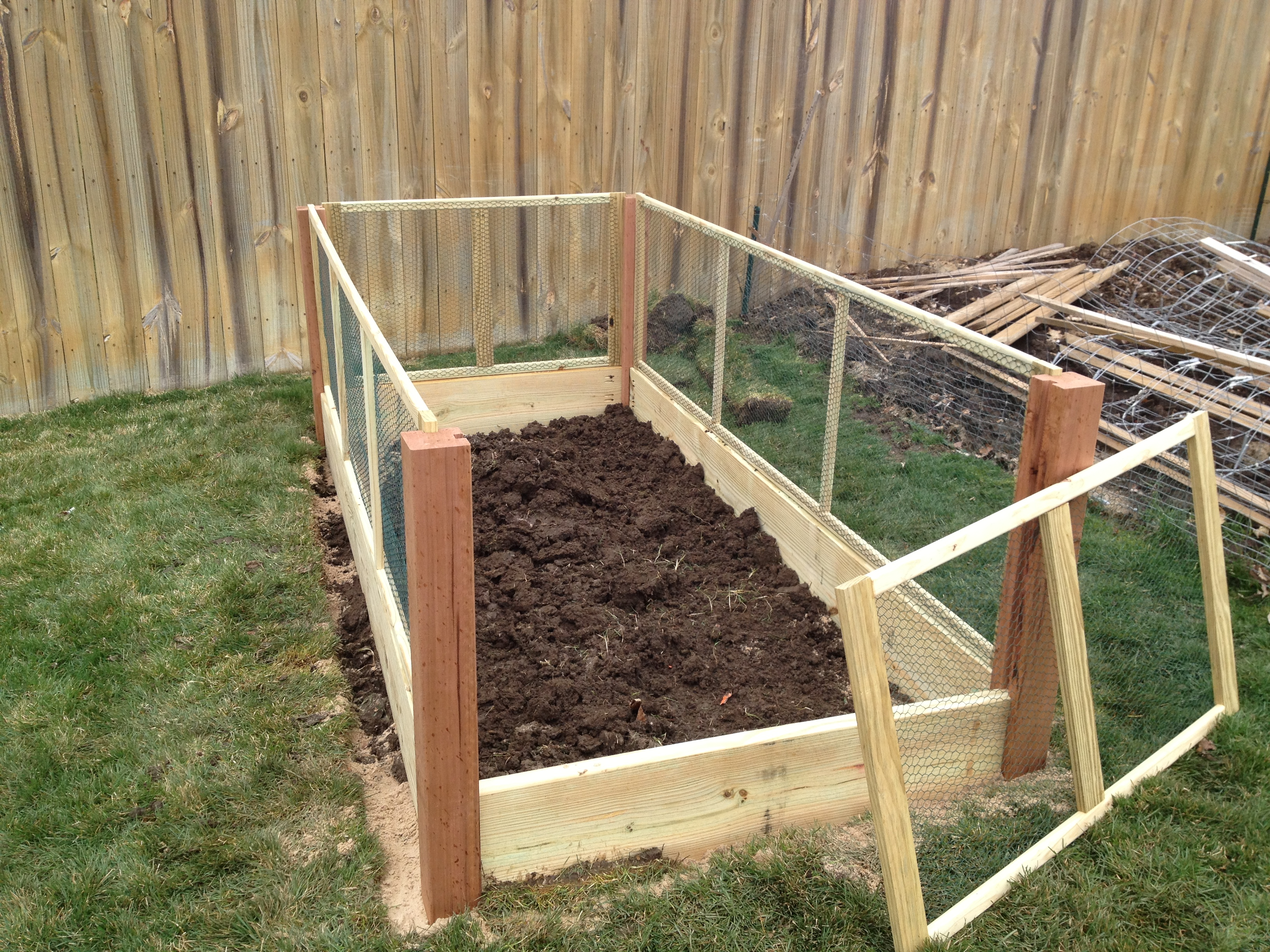 raised bed vegetable garden fence the