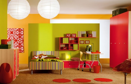 red bedroom furniture for kids photo - 2