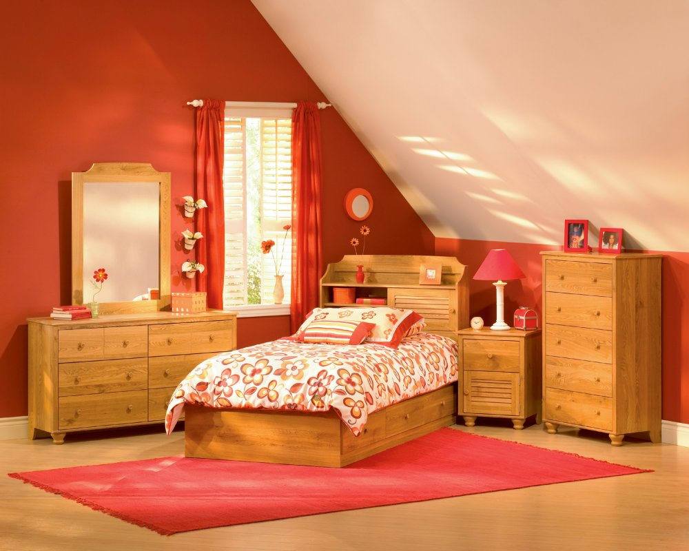 red bedroom furniture for kids photo - 3