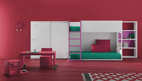 red bedroom furniture for kids photo - 4