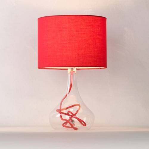 red bedroom lamp photo - 1
