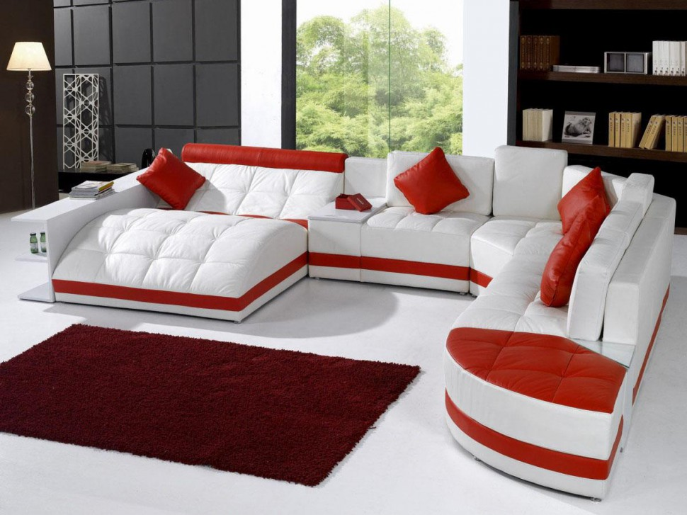 red and white furniture. red room with white furniture photo 5 and d