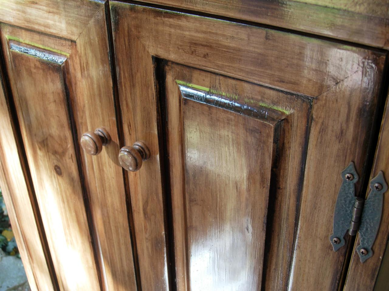 refinishing kitchen cabinets gel stain photo - 3