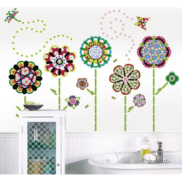 removable wall stickers flowers photo - 2