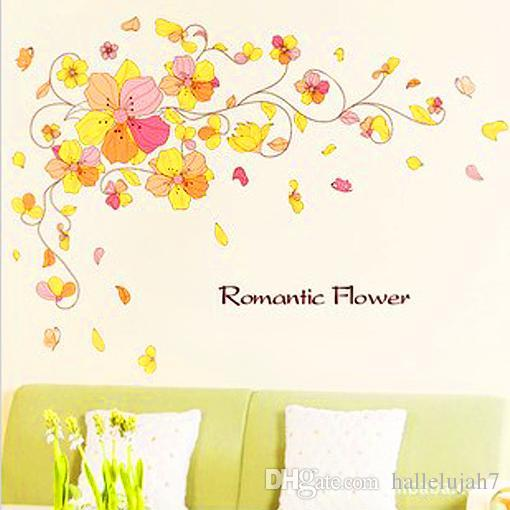 removable wall stickers flowers photo - 4