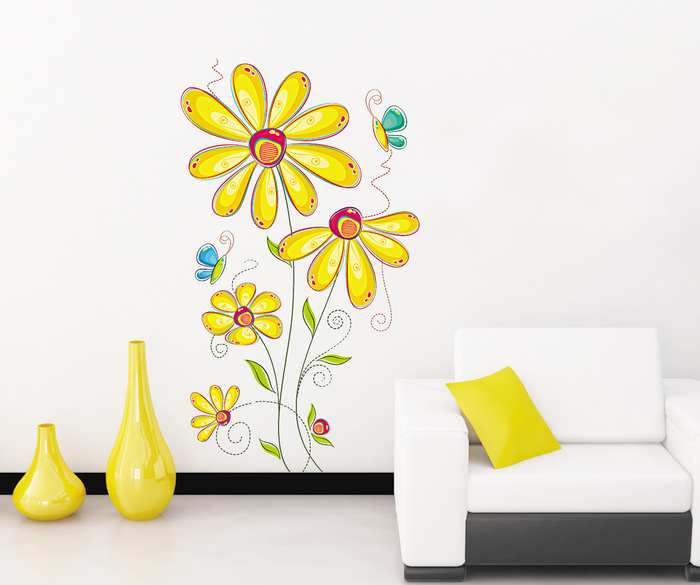 removable wall stickers flowers photo - 5