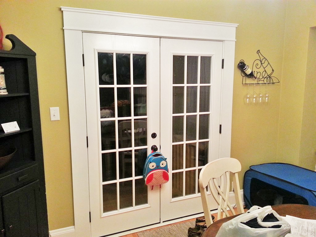replacing interior french doors photo - 2