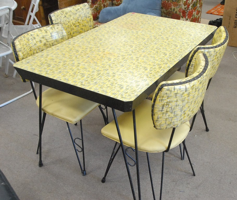 retro kitchen chairs yellow photo - 5