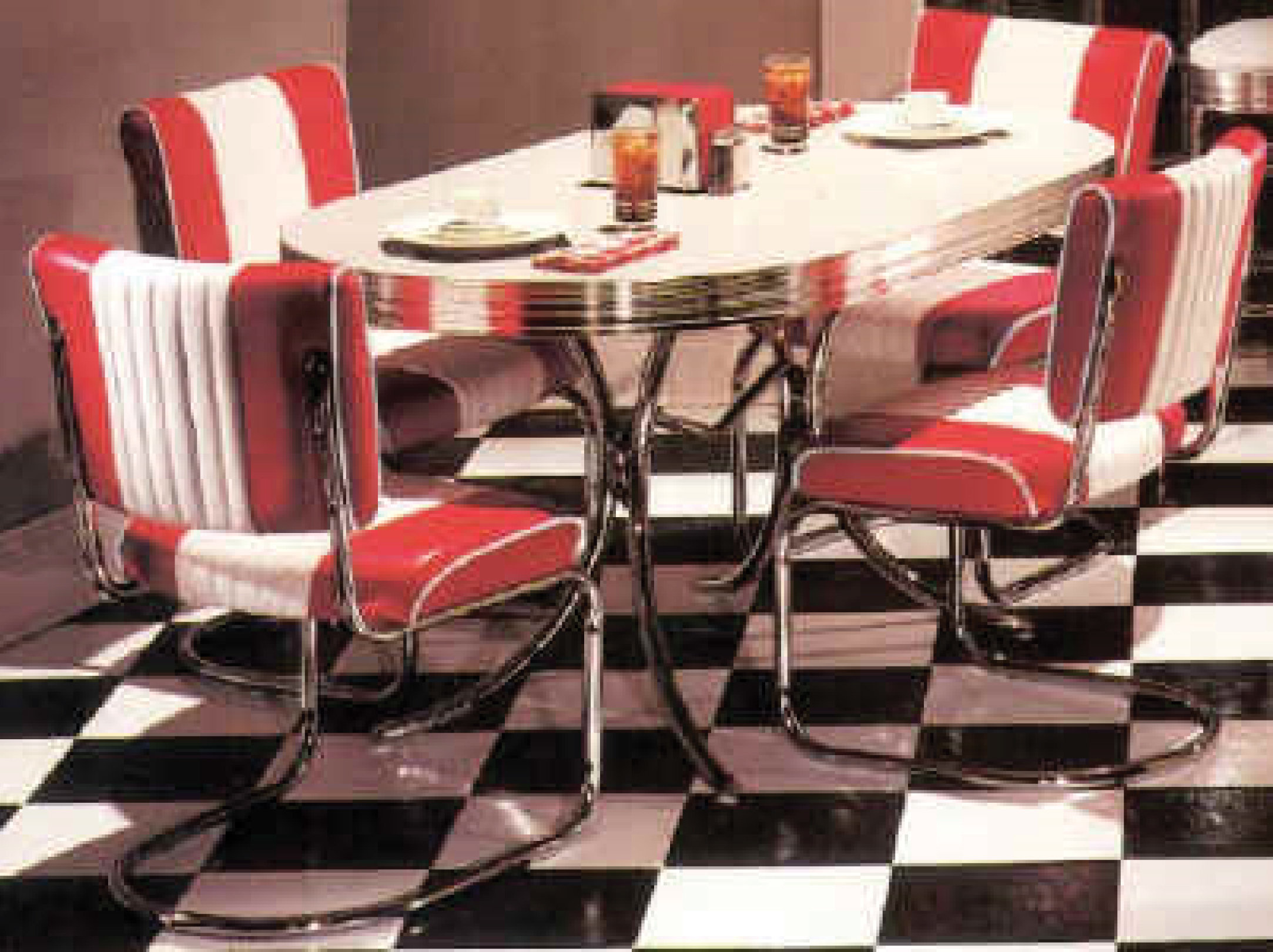 retro kitchen dinette sets photo - 2