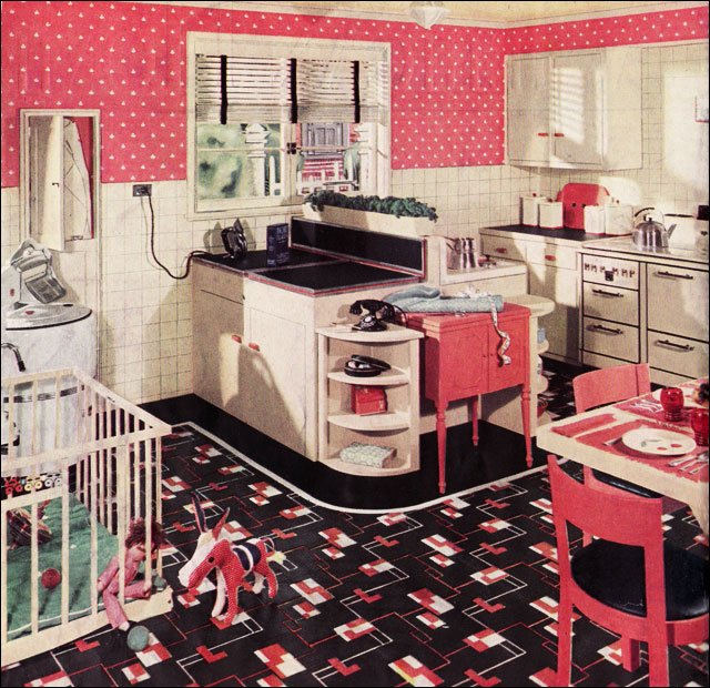 retro kitchen sets furniture photo - 1