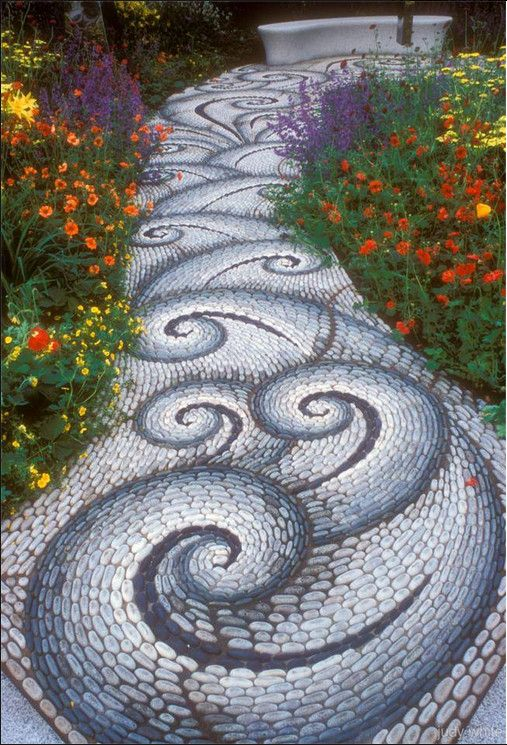 river rock garden path photo 5 - River Rock Design Ideas
