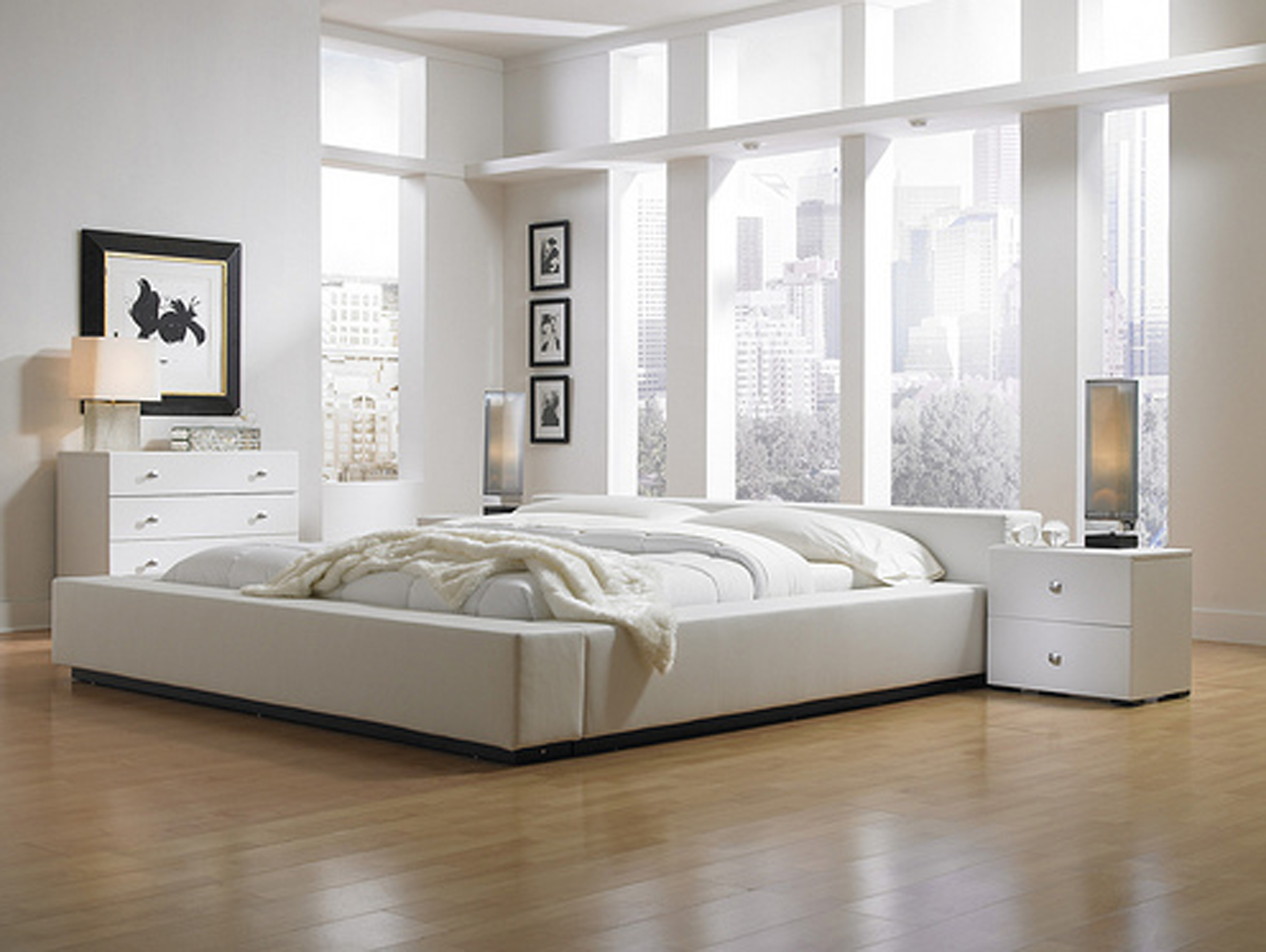 room ideas with white furniture photo - 2