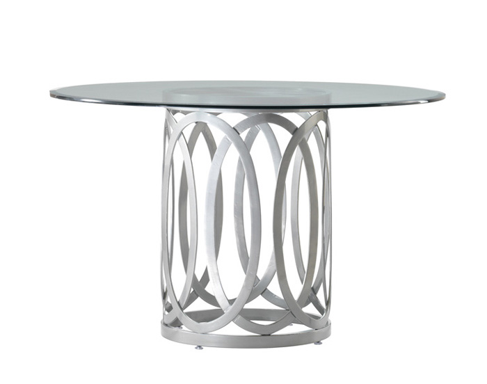 round dining table base photo - 2