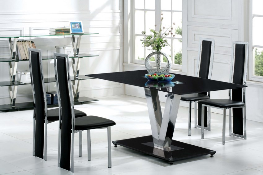 round dining table black oak photo - 3