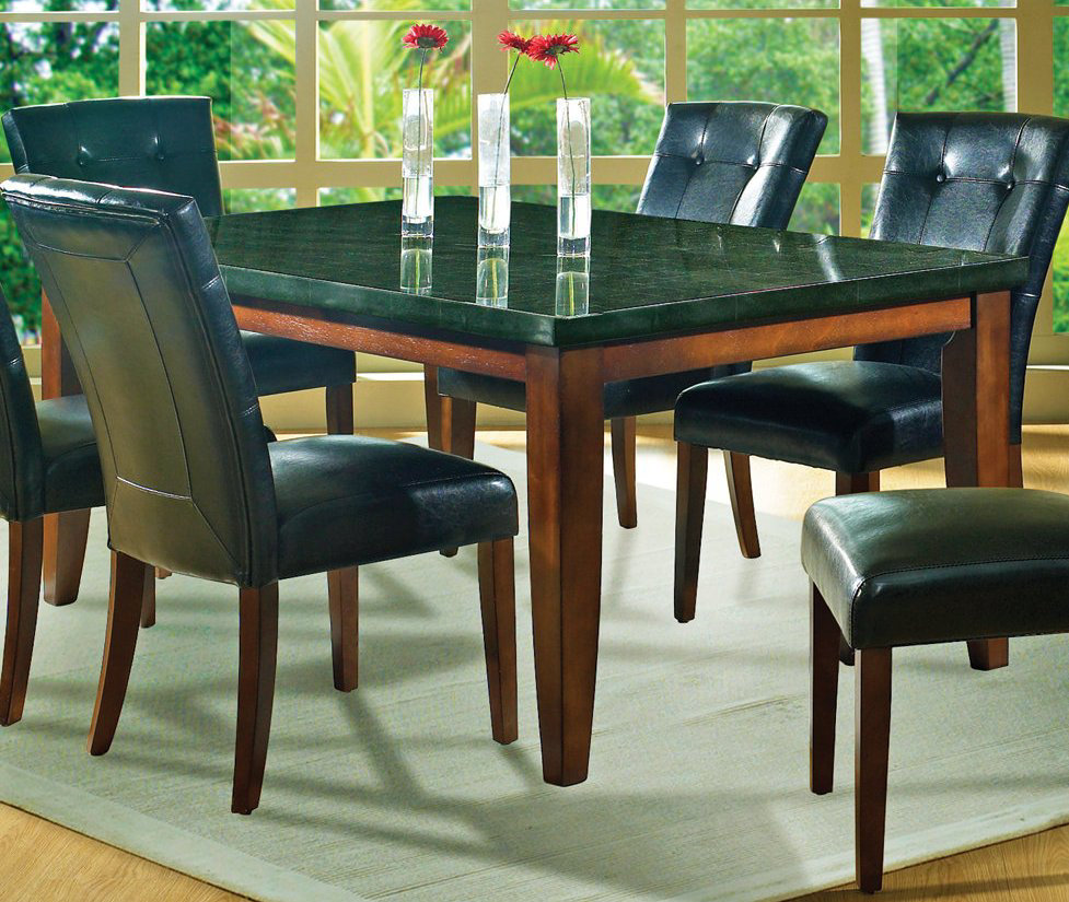 round dining table granite photo - 5