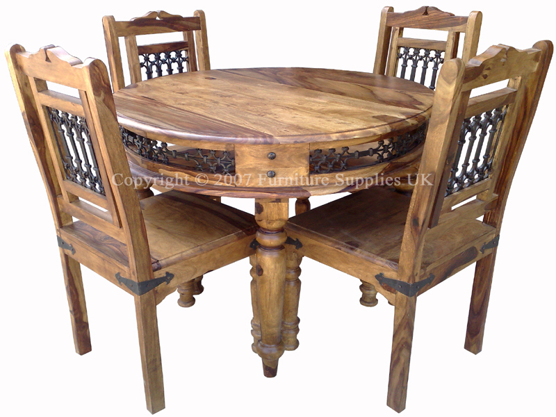 round dining tables and chairs photo - 2