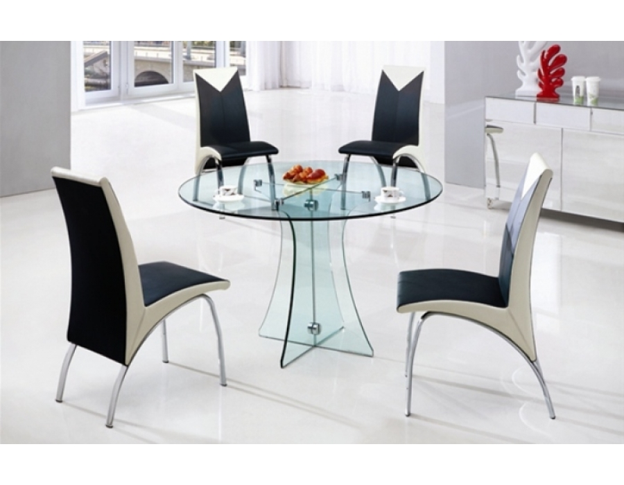 round dining tables and chairs photo - 4