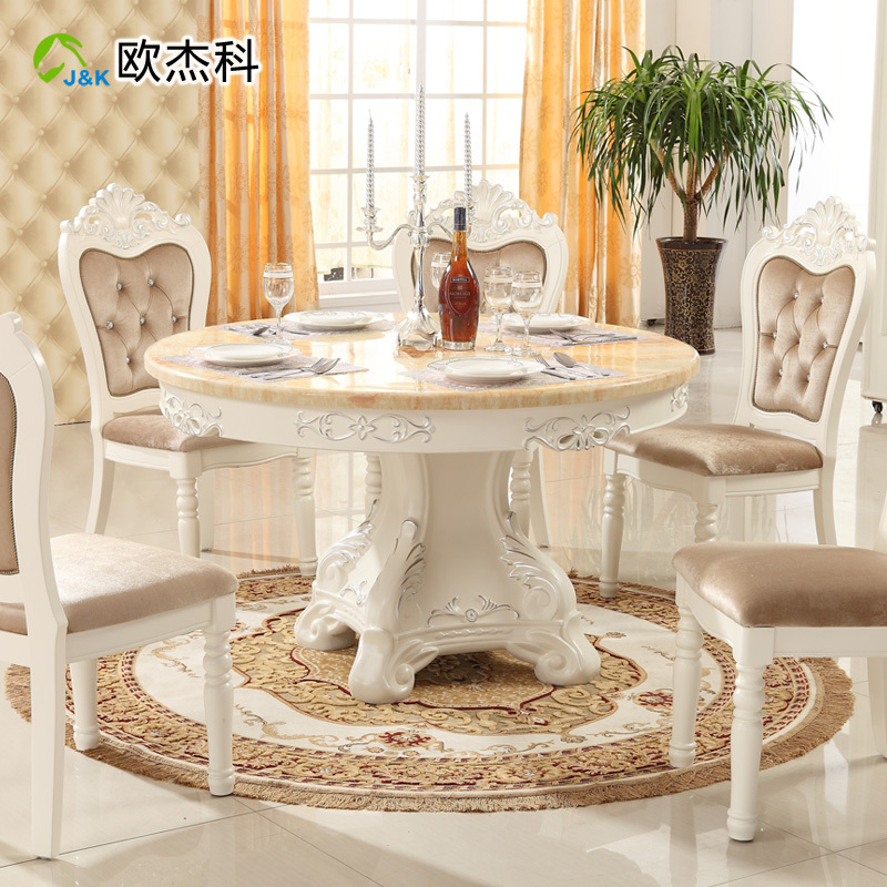 round dining tables and chairs photo - 5