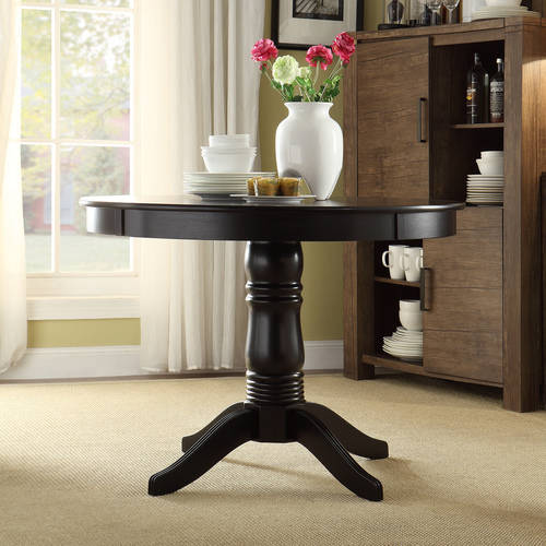 round dining tables black photo - 1