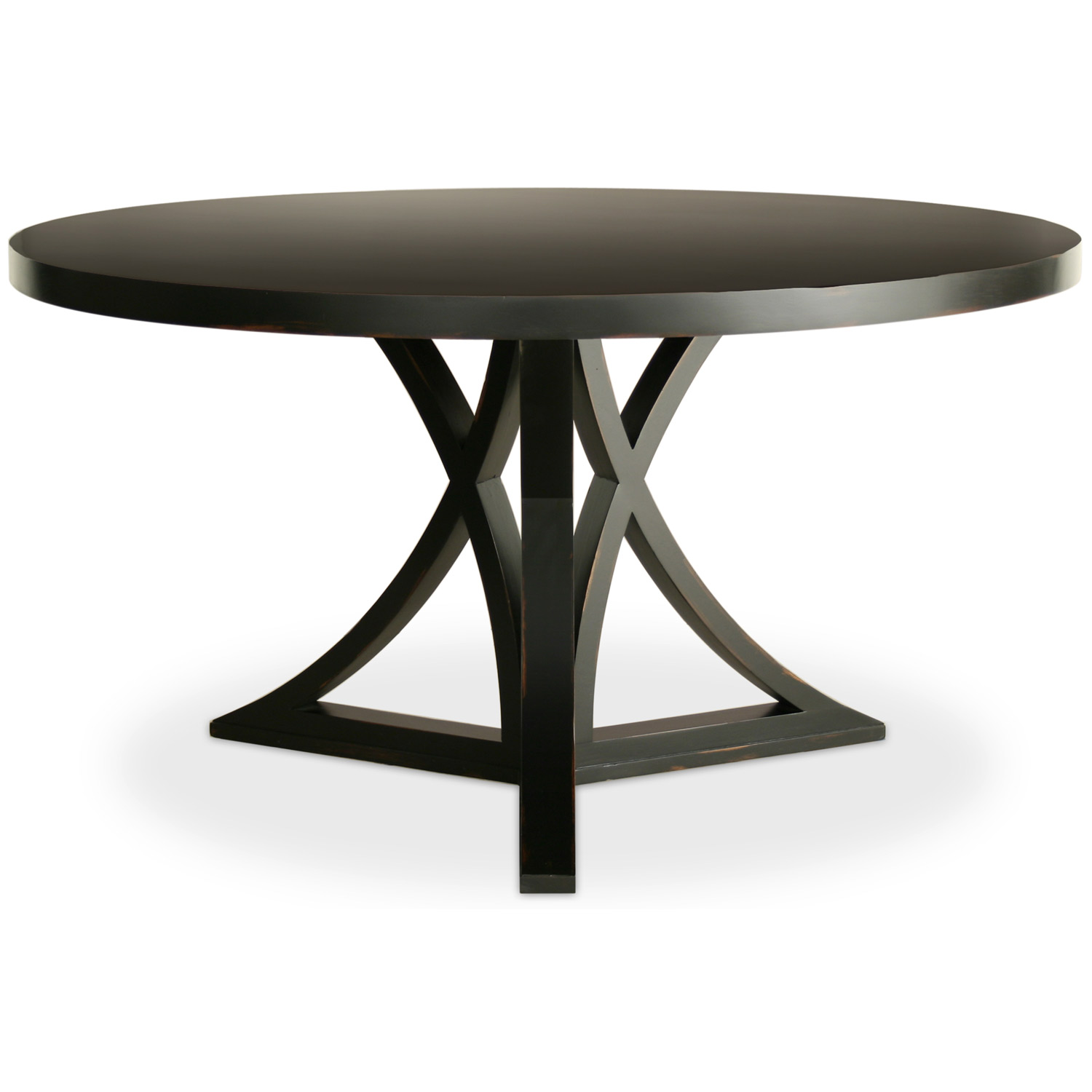 round dining tables black photo - 2