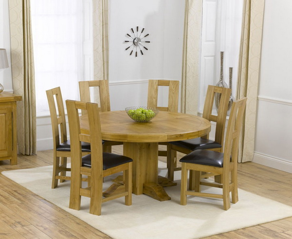 round dining tables for 6 photo - 1