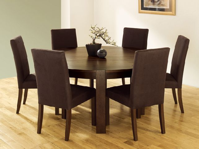 round dining tables for 6 photo - 4