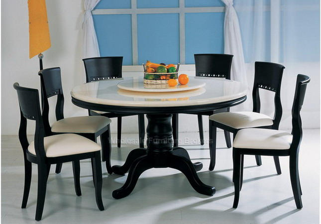 round dining tables for 6 photo - 5