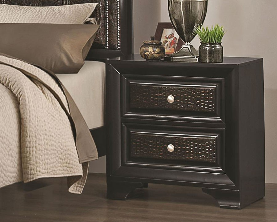 rubbed black bedroom furniture photo - 4