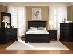rubbed black bedroom furniture photo - 5