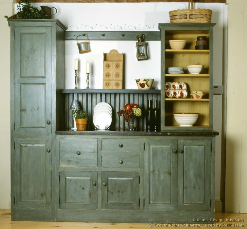 rustic country kitchen cabinets photo - 2