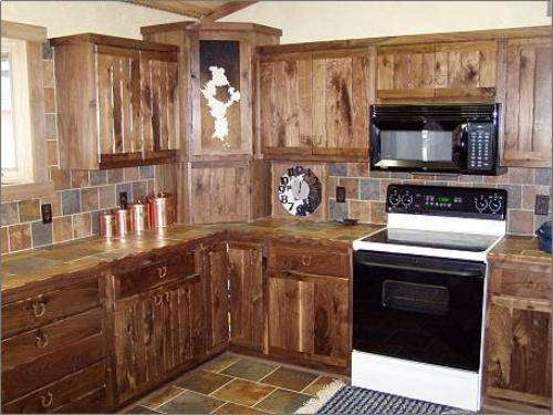 rustic country kitchen cabinets photo - 3