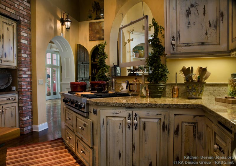 rustic country kitchen cabinets photo - 4