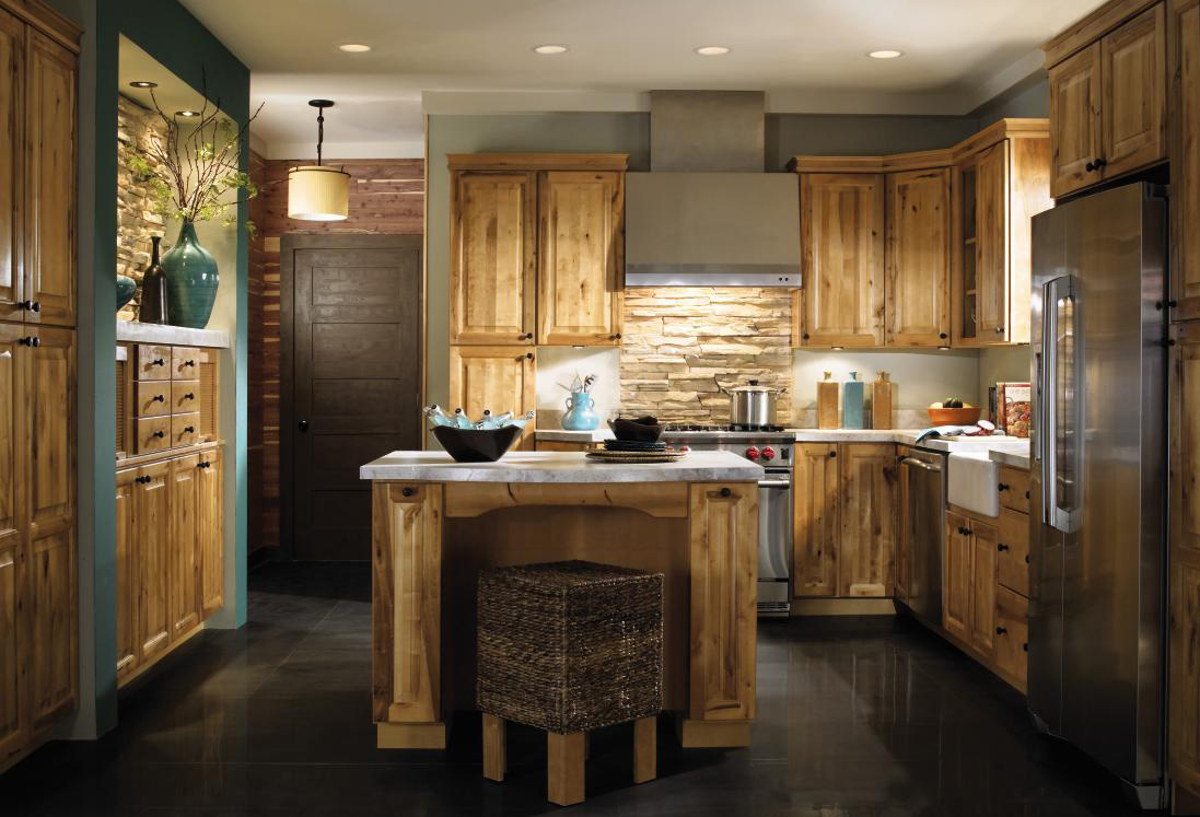 rustic country kitchen cabinets photo - 5