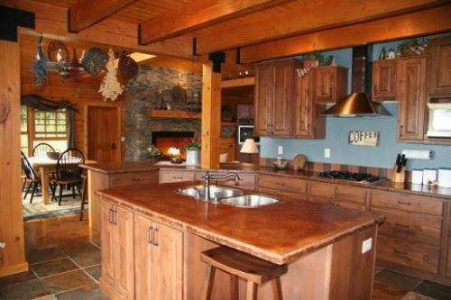 rustic country kitchen decor photo - 1