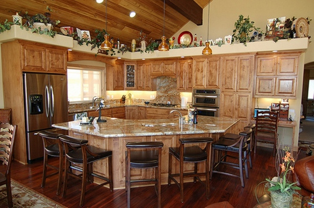 rustic country kitchen decor photo - 4