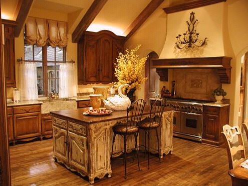 rustic country kitchen design ideas photo - 3