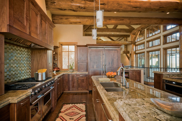 rustic country kitchen designs photo - 3