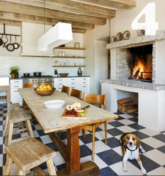 rustic country kitchen tables photo - 1