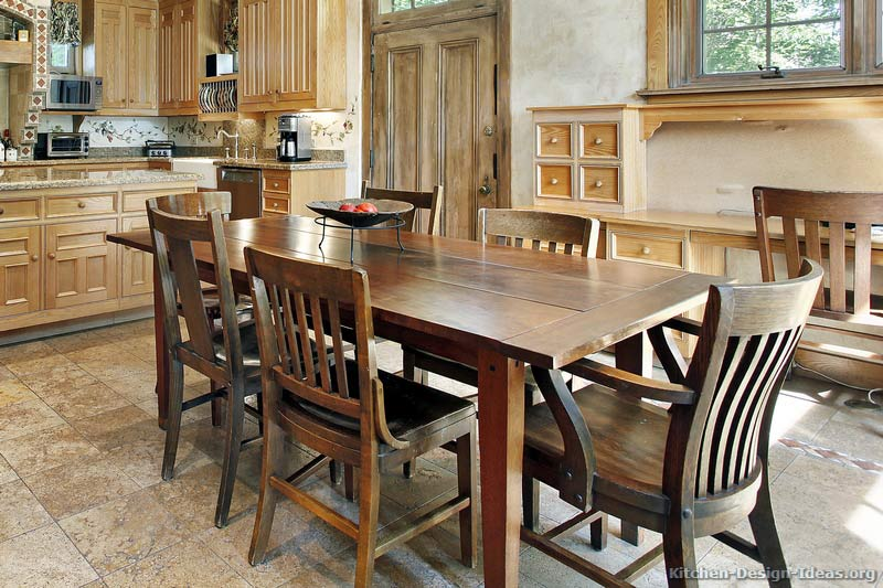 rustic country kitchen tables photo - 2