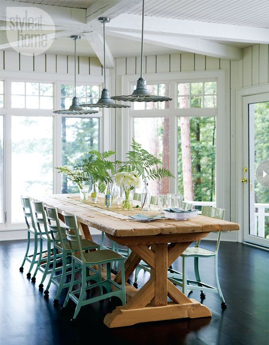 rustic country kitchen tables photo - 5