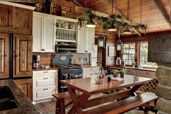 rustic country kitchen tables photo - 6