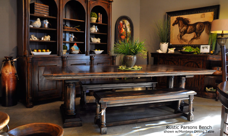 Rustic Dining Room Table Bench Photo   4